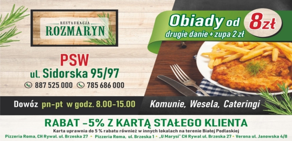 Biała Podlaska Restauracja Rozmaryn Zaprasza Radiobiper
