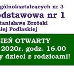 Dzień Otwarty w Szkole Podstawowej nr 1 w Białej Podlaskiej (zaproszenie)