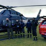 Helikopter z maseczkami dla mieszkańców wylądował w Międzyrzecu Podlaskim (film)(galeria)