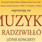 """Powraca cykl koncertów """"Muzyka u Radziwiłłów"""" (zaproszenie)"""