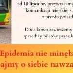 W autobusach komunikacji miejskiej powraca strefa bezpieczeństwa