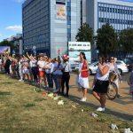 Brześć: Nadal trwają protesty. Dziś na ulice wyszło ponad 600 kobiet ubranych na biało (aktualizacja)