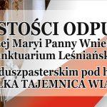 Uroczystości odpustowe w Leśnej Podlaskiej (zaproszenie)