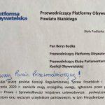 Przewodniczący PO w powiecie pisze list otwarty ws. inicjatywy posłów PiS służącej podwyższeniu wynagrodzeń poselskich