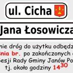 Uroczyste otwarcie wyremontowanych ulic w Janowie Podlaskim (zaproszenie)