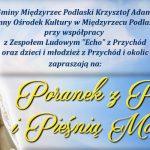 """""""Poranek z Poezją i Pieśnią Maryjną"""" w Przychodach (zaproszenie)"""