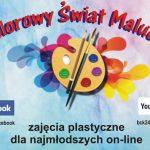 """Cykl zajęć plastycznych """"Kolorowy świat malucha"""" również w marcu (zaproszenie)"""