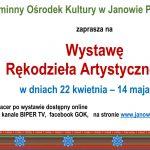 Wystawa rękodzieła artystycznego w Janowie Podlaskim (zaproszenie)