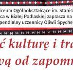 W Staszicu będą promować kulturę i tradycję ludową (zaproszenie)