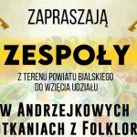 Andrzejkowe Spotkania z Folklorem w Leśnej Podlaskiej (zaproszenie)